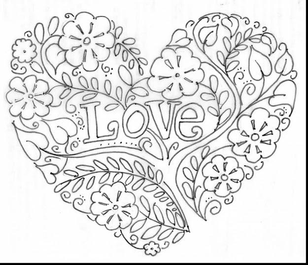 Brilliant Valentine Heart Coloring Pages Adults With Hearts Coloring Pages  And Heart Coloring Pages Pinterest