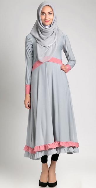 Contoh Baju Dress Muslim Modern Terbaru