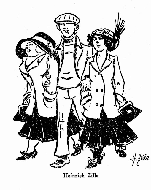 1911 youth fashion Germany large illustration