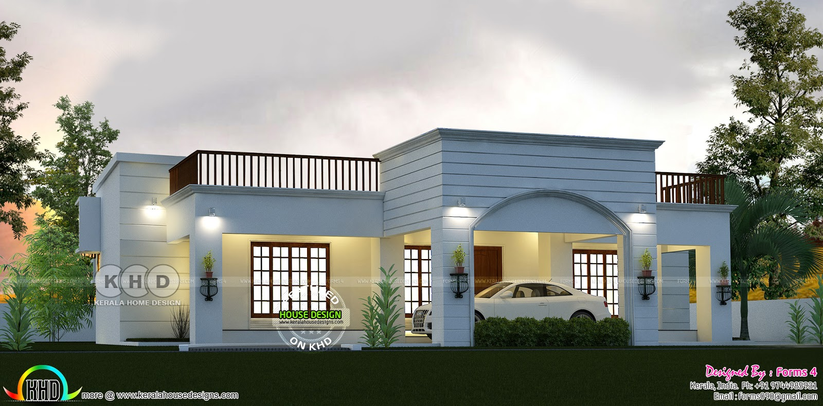 Budget Oriented Home Plan By Forms 4 Architectural Kerala