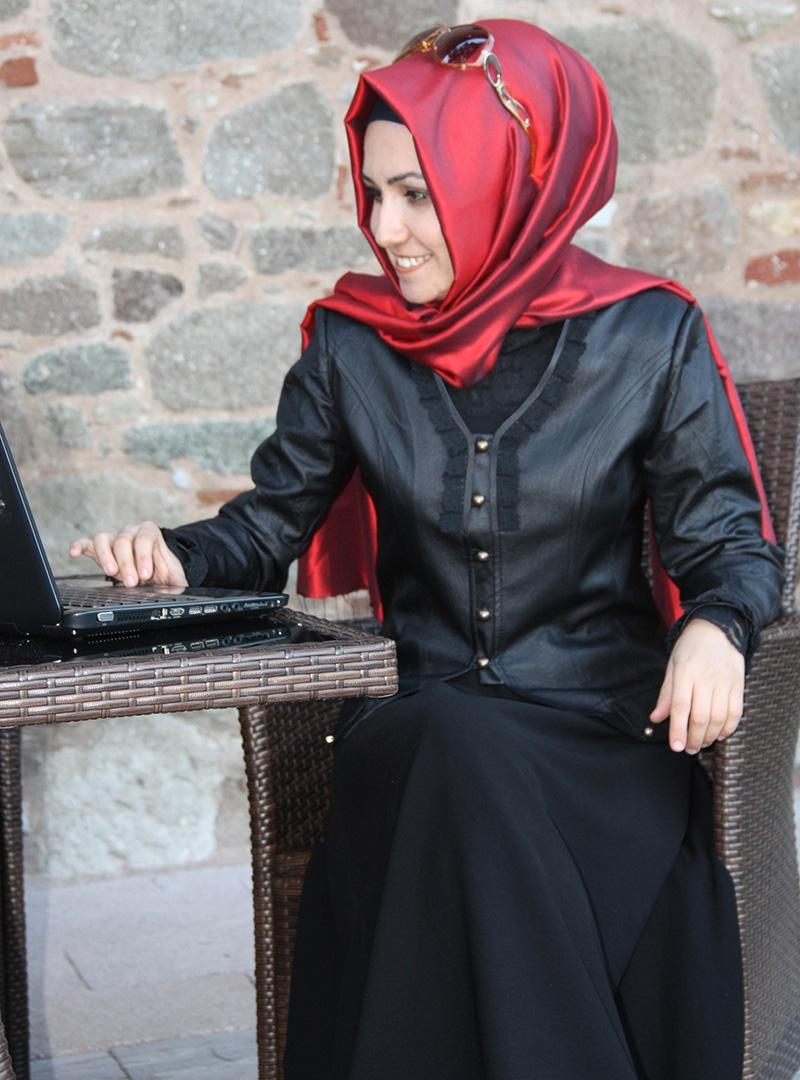 Leather Jacket Elegant Dress