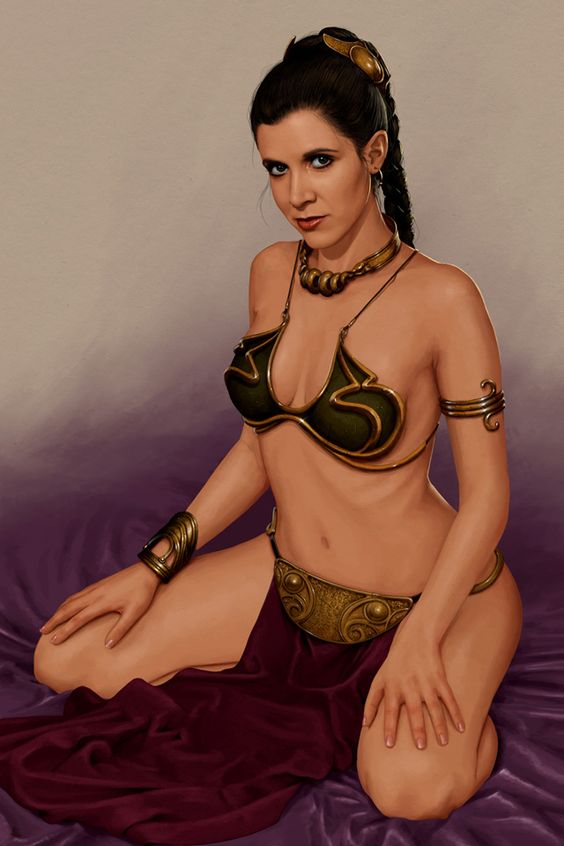 What carrie fisher as princess leia nude due time
