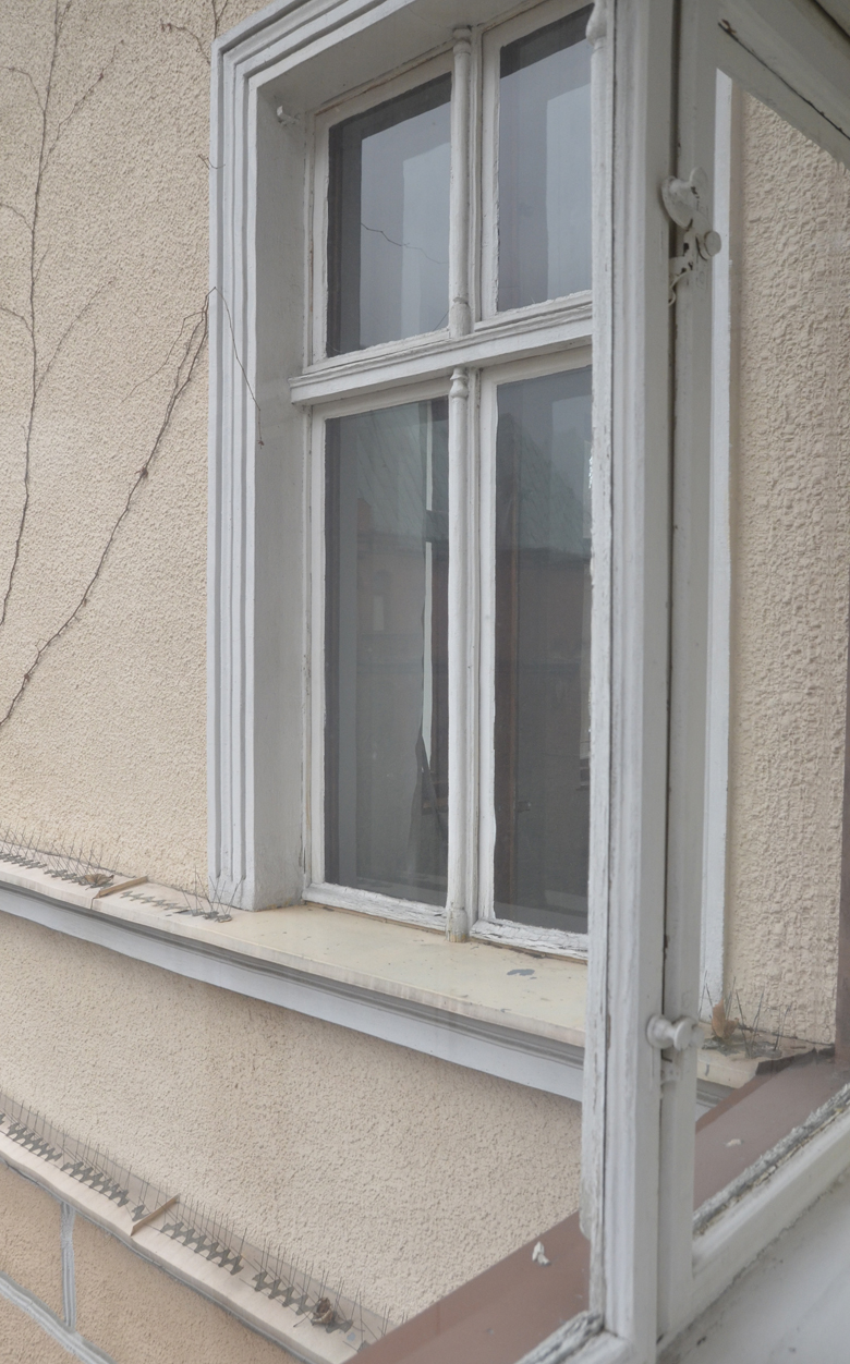 detal starego okna, rzeźbienia