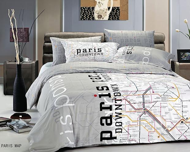 Paris Twin Comforter Bedding Sets
