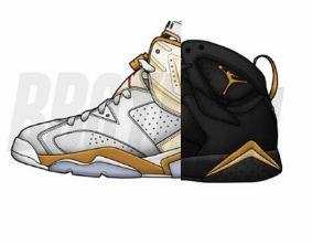 "huge selection of 32bb4 f87d8 Air Jordan 6   7 ""Gold Medal"" Sneaker Pack (Price   Release Info)"