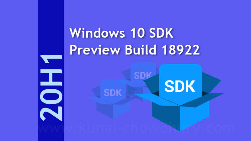 Download Windows 10 SDK Preview Build 18922