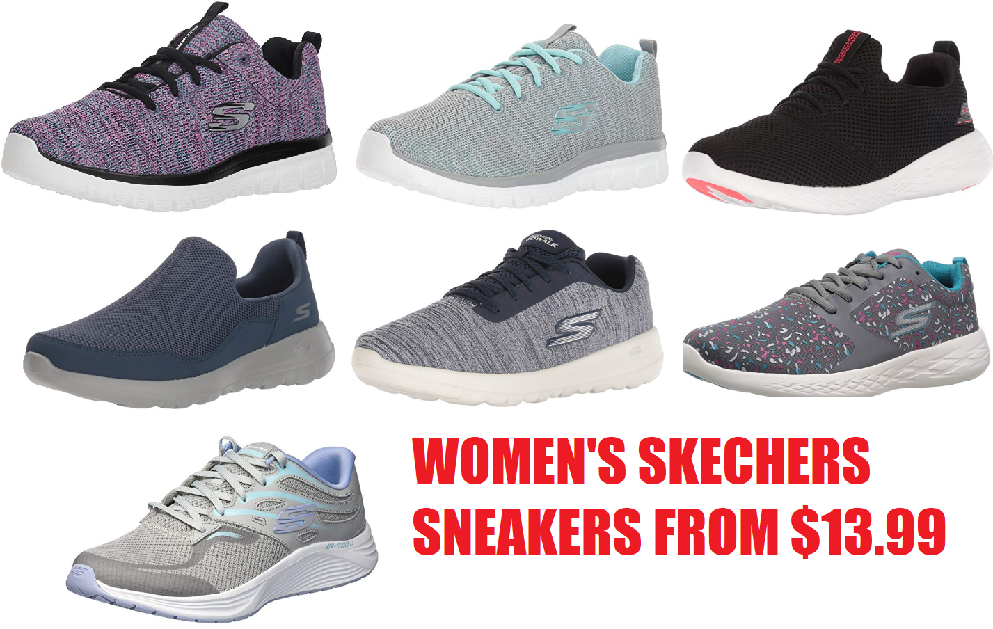 sports shoes 4fce1 ce6b8 Women s Skechers Sneakers From  13.99 + Free Shipping and Free Shipping on  Returns