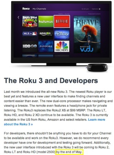 Roku Box: UK Roku Channels: Roku 3 UK