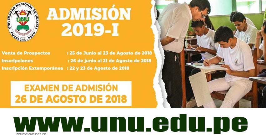 Resultados Examen UNU 2019-1 (26 Agosto) Lista Ingresantes Admisión Pucallpa - Aguaytia - Universidad Nacional de Ucayali - www.unu.edu.pe