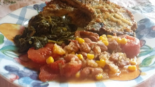 easy fried pork chops in the oven, easy oven fried pork chops, easy floured oven fried pork chops,