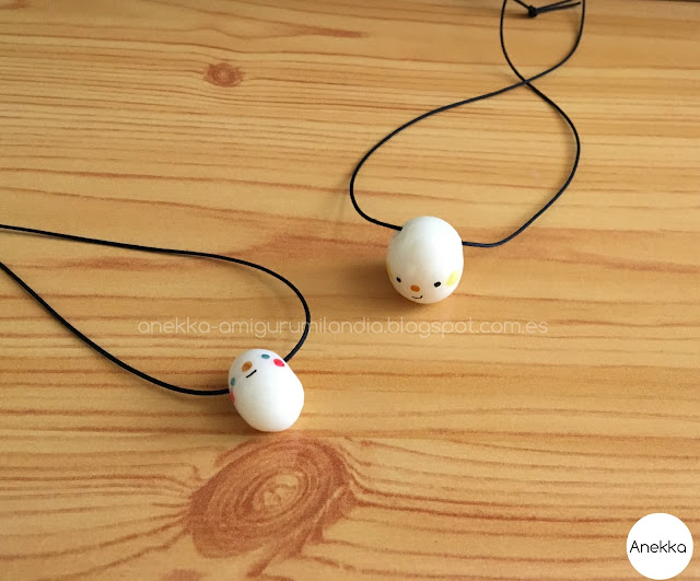 eggs porcelain necklaces