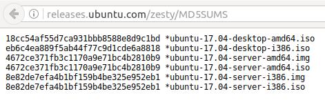 How To Verify A Ubuntu ISO Image Checksum