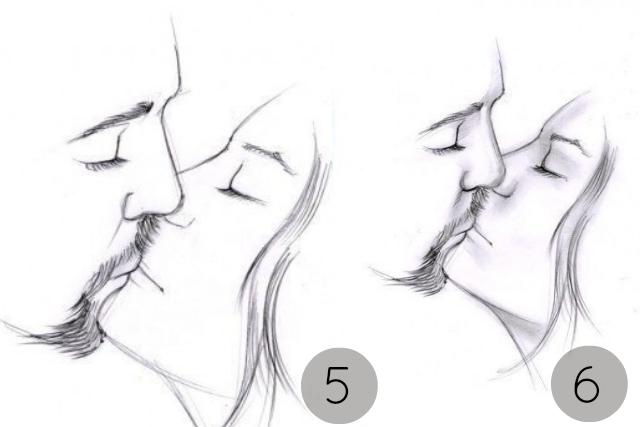dibujos,pintar, dibujar, besos, amor, pareja, manualidades