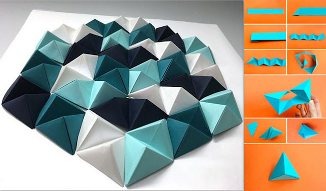 Cara Membuat Hiasan Dinding Kamar dari Kertas Origami