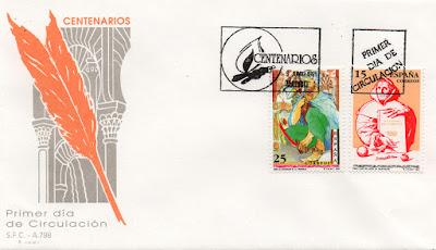 Sobre PDC del sello del 4 Centenario del fallecimiento de Fray Luis de León