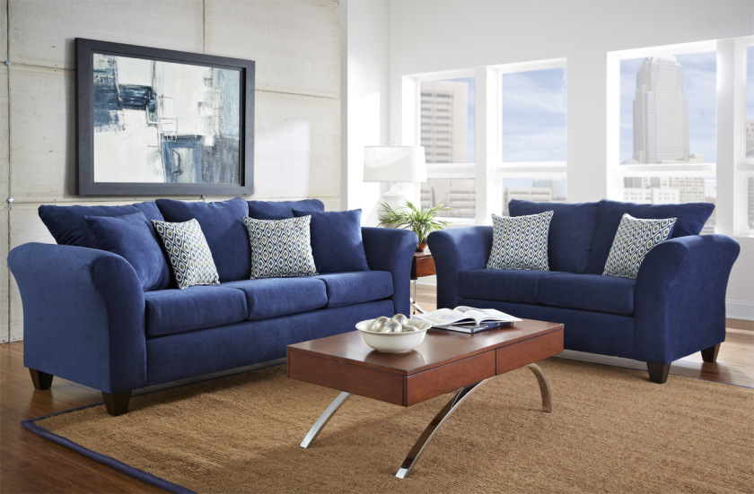 10 interior design ideas blue and brown living room | kinjenk