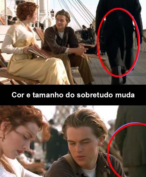 Erros de filmagem do filme Titanic