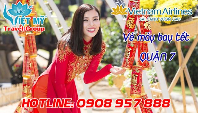 Vé máy bay tết Vietnam Airlines quận 7