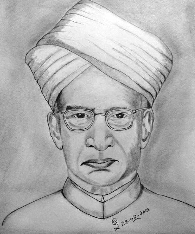 PENCIL DRAWING - Dr. Sarvepalli Radhakrishnan