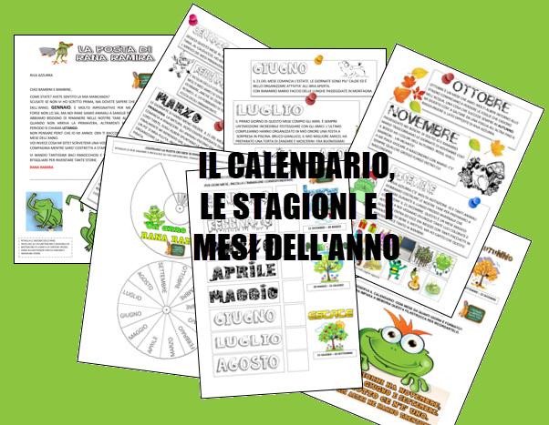 Calendario Classe Prima.Schede Ed Attivita Didattiche Del Maestro Fabio Per La
