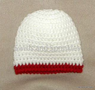 Swirls and Sprinkles: Easy free crochet newborn beanie.