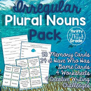 https://www.teacherspayteachers.com/Product/Irregular-Plural-Nouns-Activities-and-Practice-1112026