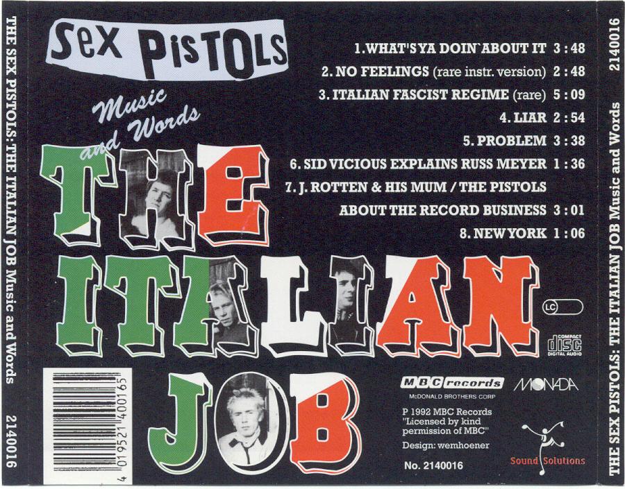 Sex Pistols The Italian Job Download 69