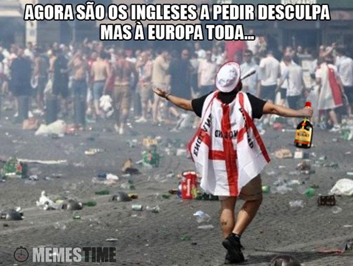 Meme Tumultos com Adeptos Ingleses em Marselha – Agora são os ingleses a pedir desculpa, mas à europa toda...