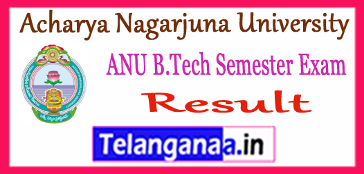 ANU Acharya Nagarjuna University PG 1st 3rd 5th 7th Semester Result 2017-18