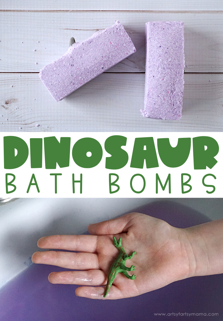 DIY Dinosaur Bath Bombs