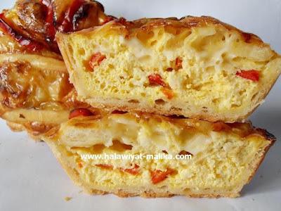 كيش البيض والجبن رووعة