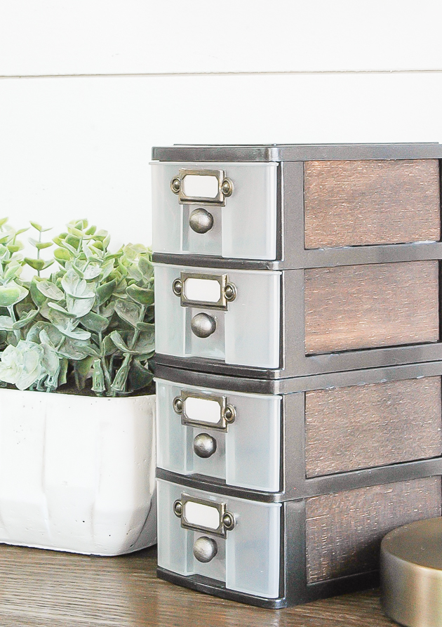Industrial farmhouse Dollar Tree Storage