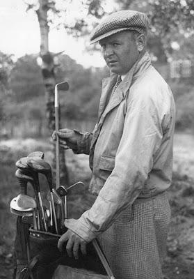 Golfer Alf Perry