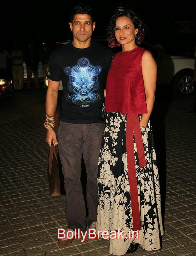 Farhan and Adhuna Akhtar, Bollywood Celebrities At Farah Khan's GRAND 50th Birthday Party