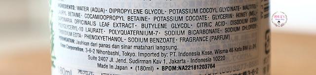 Softymo Natu Savon Select Series ingredients