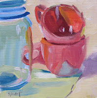 Image result for linda pink abstract food painting