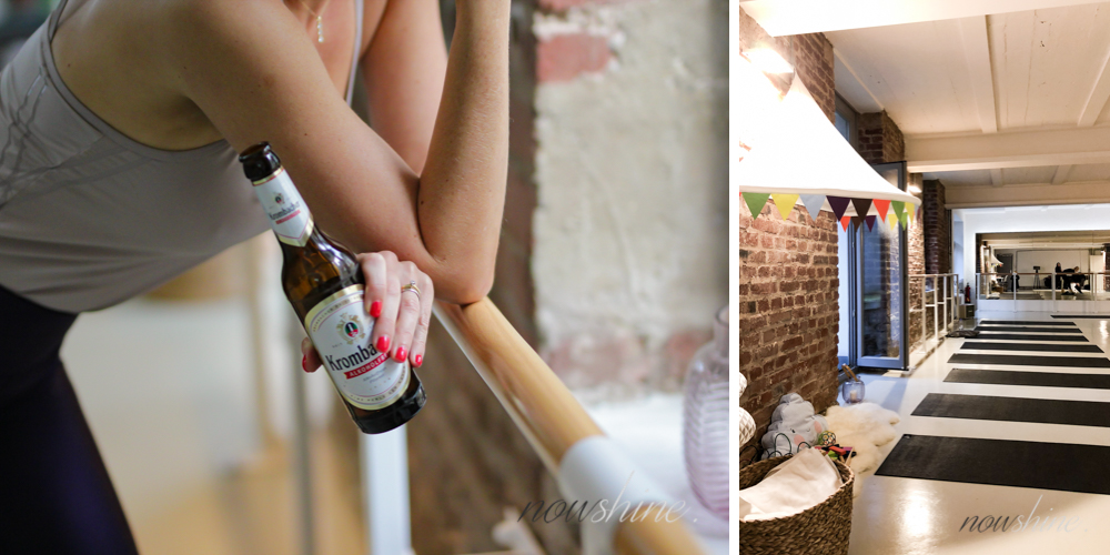 Now shine und Krombacher Alkoholfrei - Barre Workout - Youpila Düsseldorf - Ballett Workout