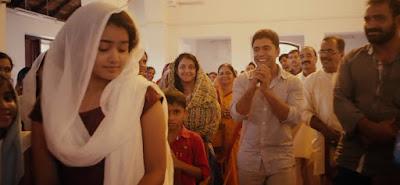Malayalam actress Premam in church scene