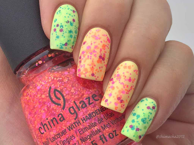 China glaze: Can I Get An Untz Untz, Let The Beat Drop (Electric Nights Collection)(