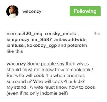 I Don't Care if My Wife Can't Cook - Banky W | A wife must know How to Cook - Waconzy