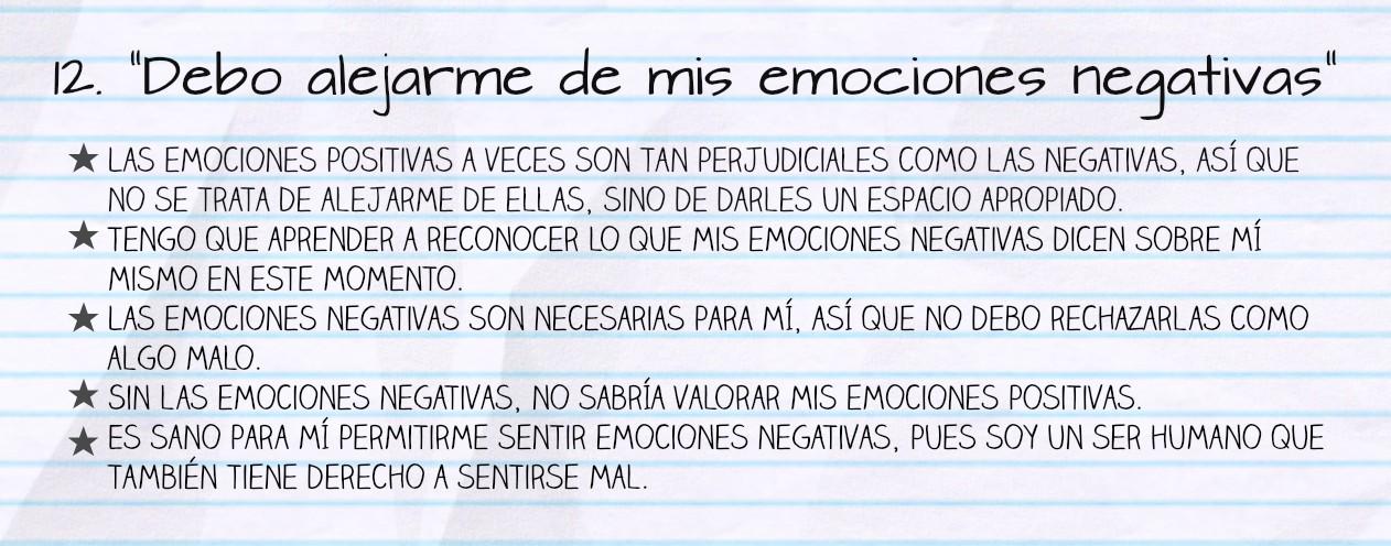 Las emociones negativas no sirven para nada