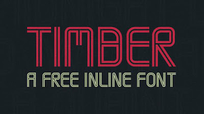 timber inline typeface free