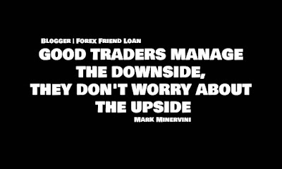 Motivational Quote, Quote, GOOD TRADERS MANAGE THE DOWNSIDE, THEY DON'T WORRY ABOUT THE UPSIDE, Mark Minervini