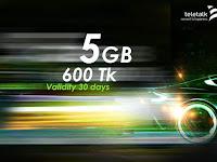 Teletalk 5GB data only tk. 600 offer