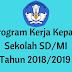 Program Kerja Kepala Sekolah SD/MI Tahun 2018/2019 - Homesdku