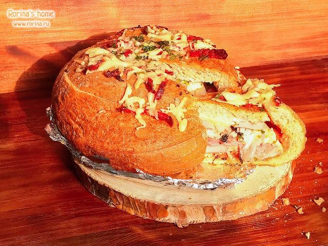 Пицца в хлебе в духовке: пошаговый рецепт