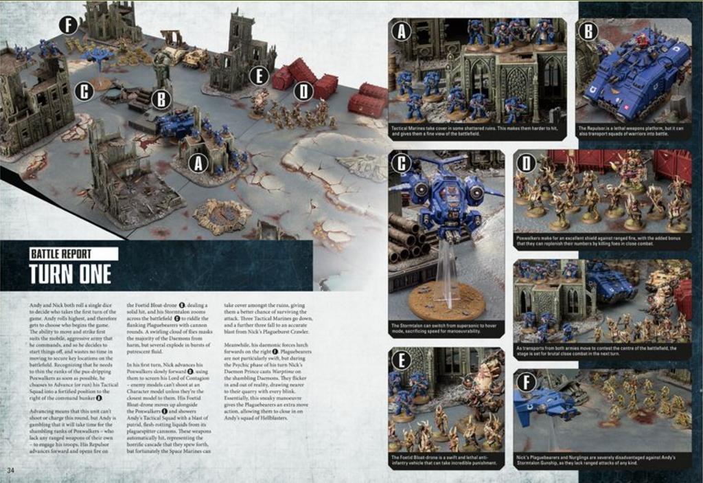 Warhammer 40k nuevo con embalaje original * Death Guard-plagueburst Crawler