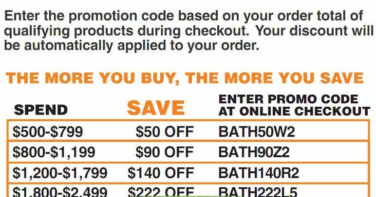 Home depot coupon codes 2018