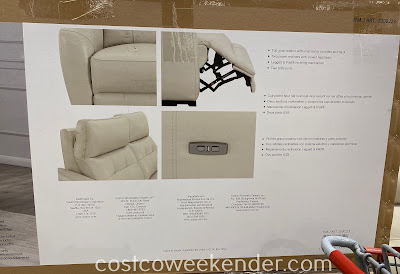 Leather Power Reclining Sofa: great for any living room or family room