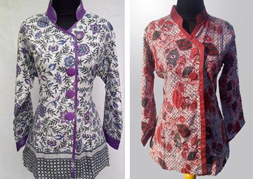 10 Model Baju Batik Guru 2017 Modis  Terbaru